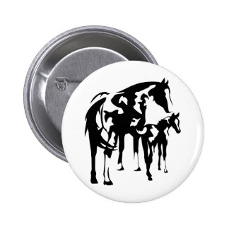 Paint Mare and Foal Pinback Button