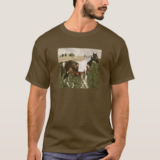 Paint Mare and Foal T-Shirt