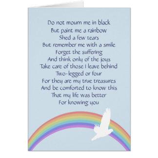 Paint Me a Rainbow -- Final Goodbye Card