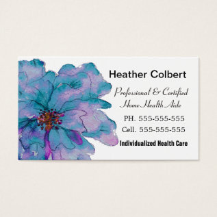 Paint Me Gracie Grande Caregiver Professional Business Card at Zazzle
