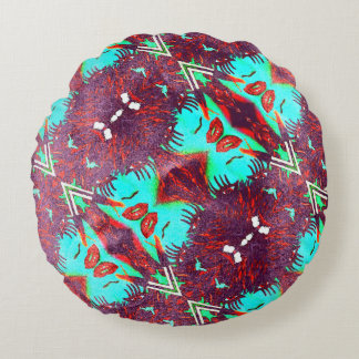 Paint Me Perfect Trippy Grunge Round Pillow