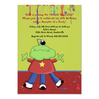 Paint Monster Birthday Party Invitation