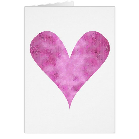 Paint-my-Heart Pink Card