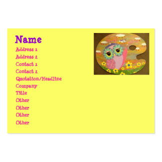 Paint My Love Owl Large Business Card