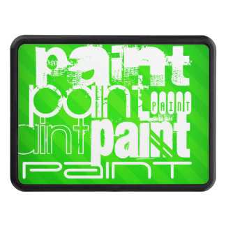 Paint; Neon Green Stripes Tow Hitch Cover