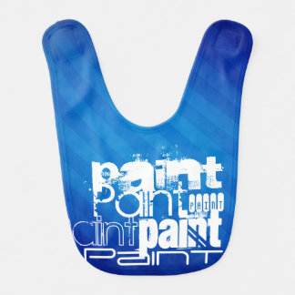 Paint; Painter Royal Blue Stripes Baby Bibs