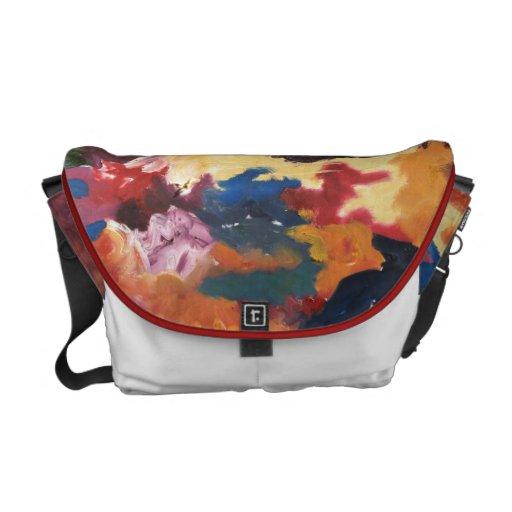 Paint Palette Abstract Messenger Bag