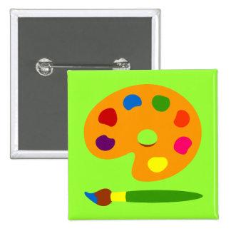 Paint Palette Art Pinback Buttons