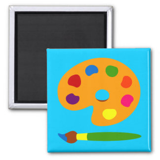 Paint Palette Art Refrigerator Magnets