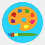 Paint Palette Art Stickers