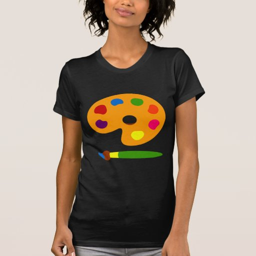 Paint Palette Art Tee Shirts