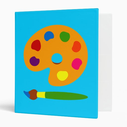 Paint Palette Art Vinyl Binder