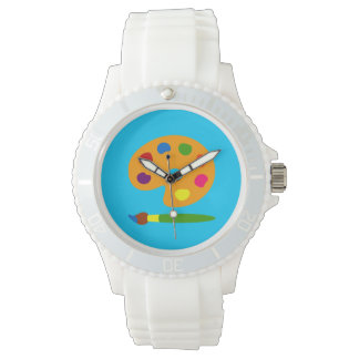 Paint Palette Art Wristwatch