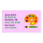 Paint Palette Artist Business Cards