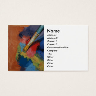 Paint Palette Business Card