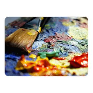 Paint Palette Closeup 5x7 Paper Invitation Card