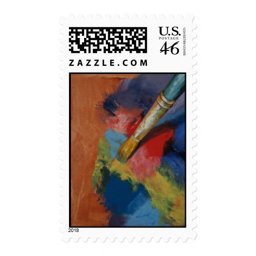 Paint Palette Stamp