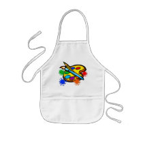 Paint Palette Splatters Painting Aprons for Kids