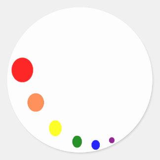 paint pallet classic round sticker