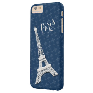 Paint Paris Blue iPhone 6 plus Barely There iPhone 6 Plus Case