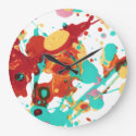Paint Party 3 Wallclock