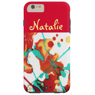 Paint Party Abstract Personalized Tough iPhone 6 Plus Case
