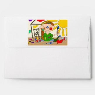 Paint Party Envelope