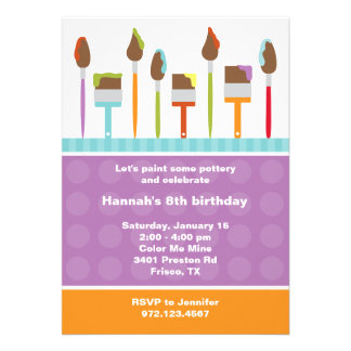Paint Party Invitations Invite