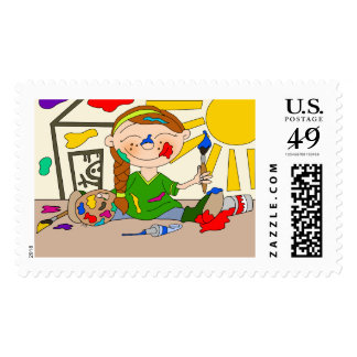 Paint Party Postage