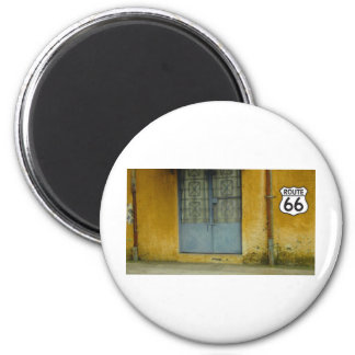 Paint peeling Wall on Route 66 2 Inch Round Magnet