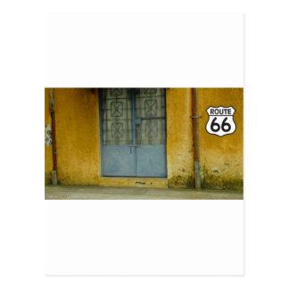 Paint peeling Wall on Route 66 Postcard