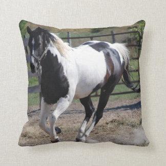 Paint Pinto Horse Throw Pillow
