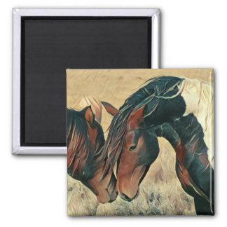 Paint Ponies 2 Inch Square Magnet