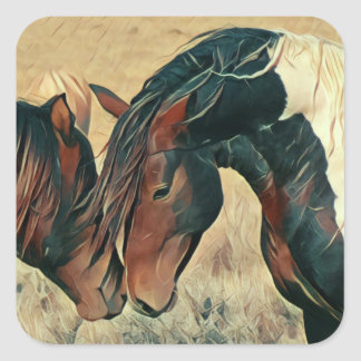 Paint Ponies Square Sticker