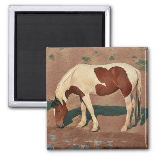 Paint Pony 2 Inch Square Magnet