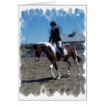 Paint Pony Horse Show Greeting Card