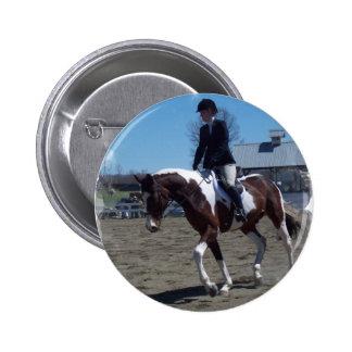 Paint Pony Horse Show Round Button