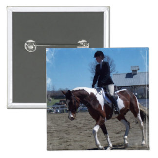 Paint Pony Horse Show Square Pin
