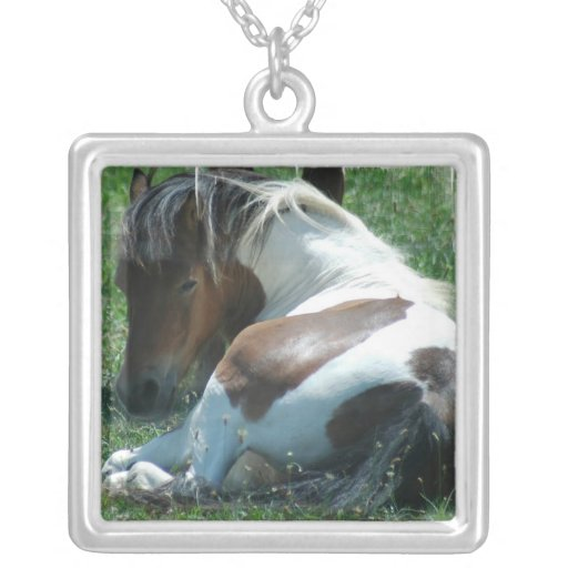 Paint Pony Resting Necklace