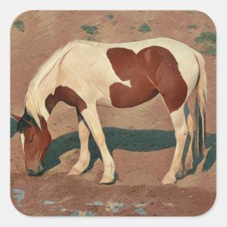 Paint Pony Square Sticker