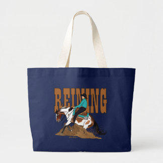 Paint Reining Horse Tote Bag