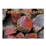 Paint rock agate postcard