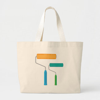 Paint Roller Large Tote Bag
