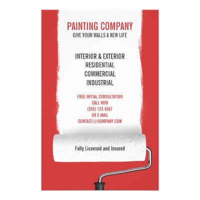 Paint Flyer Painting Company Contractor Zazzle Com