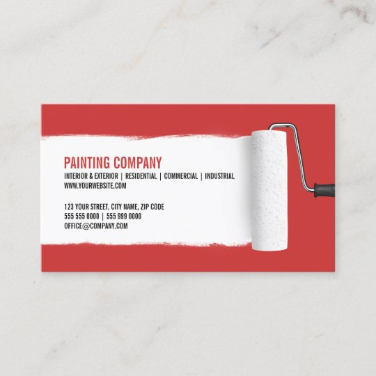 Paint roller painting contractor business card zazzle paint roller painting contractor business card colourmoves