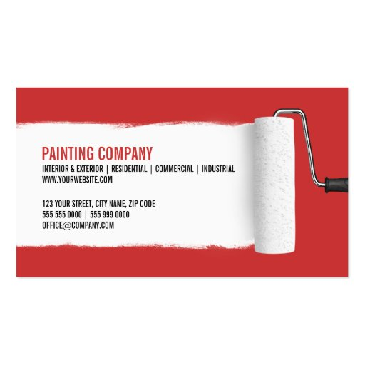 Painter Business Cards Page BizCardStudio - Painter business card template