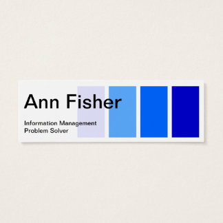 Paint sample blue skinny business card