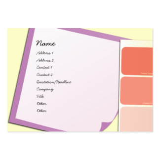 Paint Samples and Notes Large Business Card