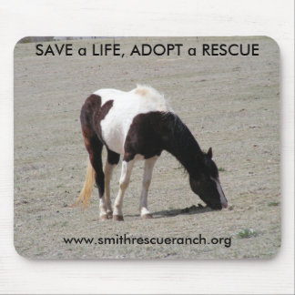 PAINT~SAVE a LIFE, ADOPT a RESCUE Mousepad