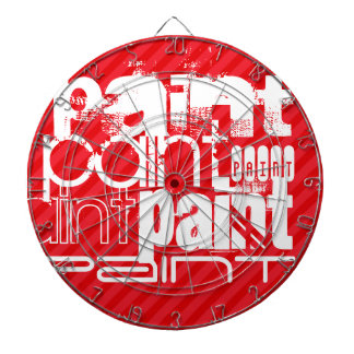Paint; Scarlet Red Stripes Dartboards